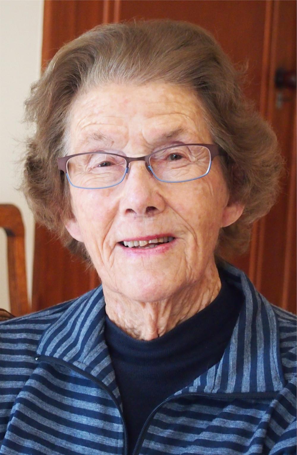Portrait photograph of Barbara Caseley, Te Awanga