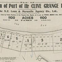 Map of Clive Grange, Hawke's Bay