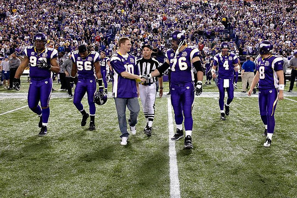 Patric Nelson Honorary Captain at Minnesota Vikings Football Game