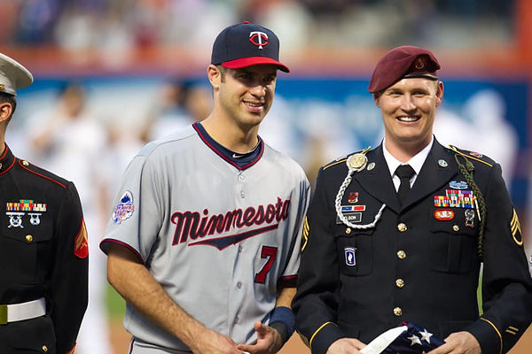 Joe Mauer and Patrick Nelson at MLB All Star Game