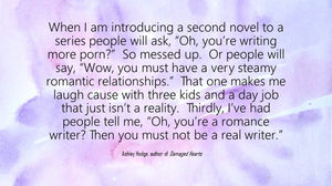 Shit People Say to Romance Authors