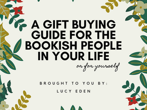 A Gift Buying Guide for the Bookish In Your Life (or for yourself) ft. Lucy Eden