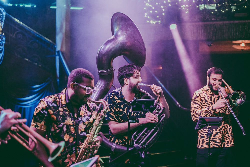 Roaming brass band London