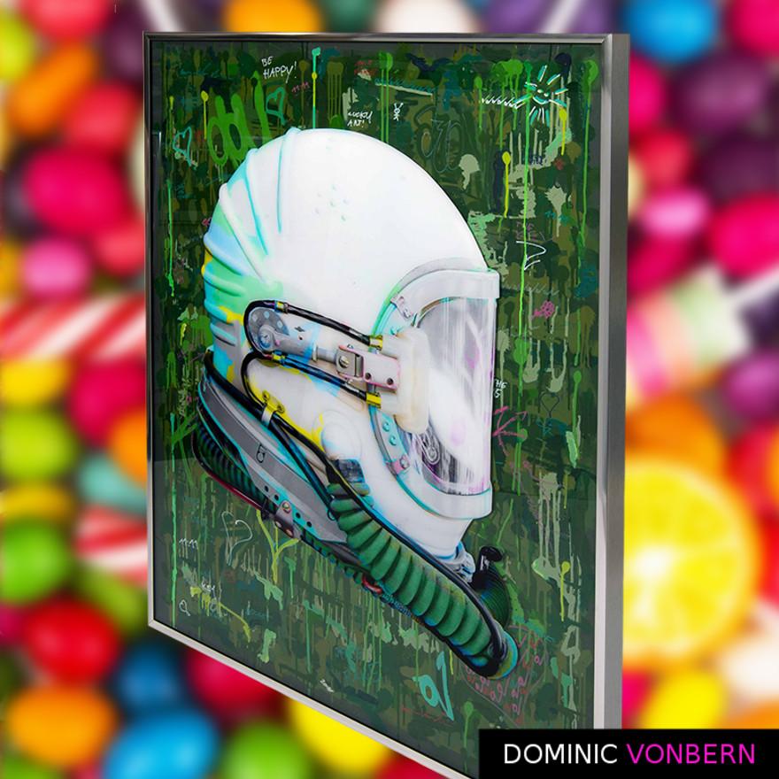 Dominic Vonbern-Swiss Artist-Space Helmet- Urban Art- Street Art- Space is fake 3
