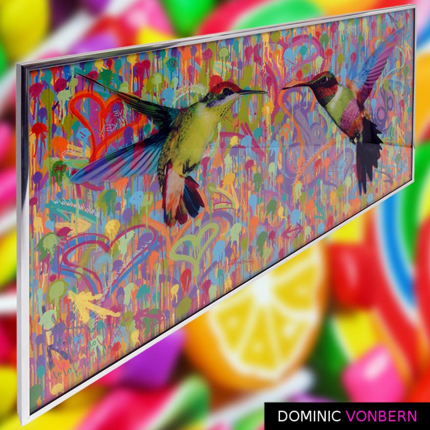 Dominic Vonbern-Swiss Artist-Hummingbird Art-Street Art-Urban Art- two small picky birds 5