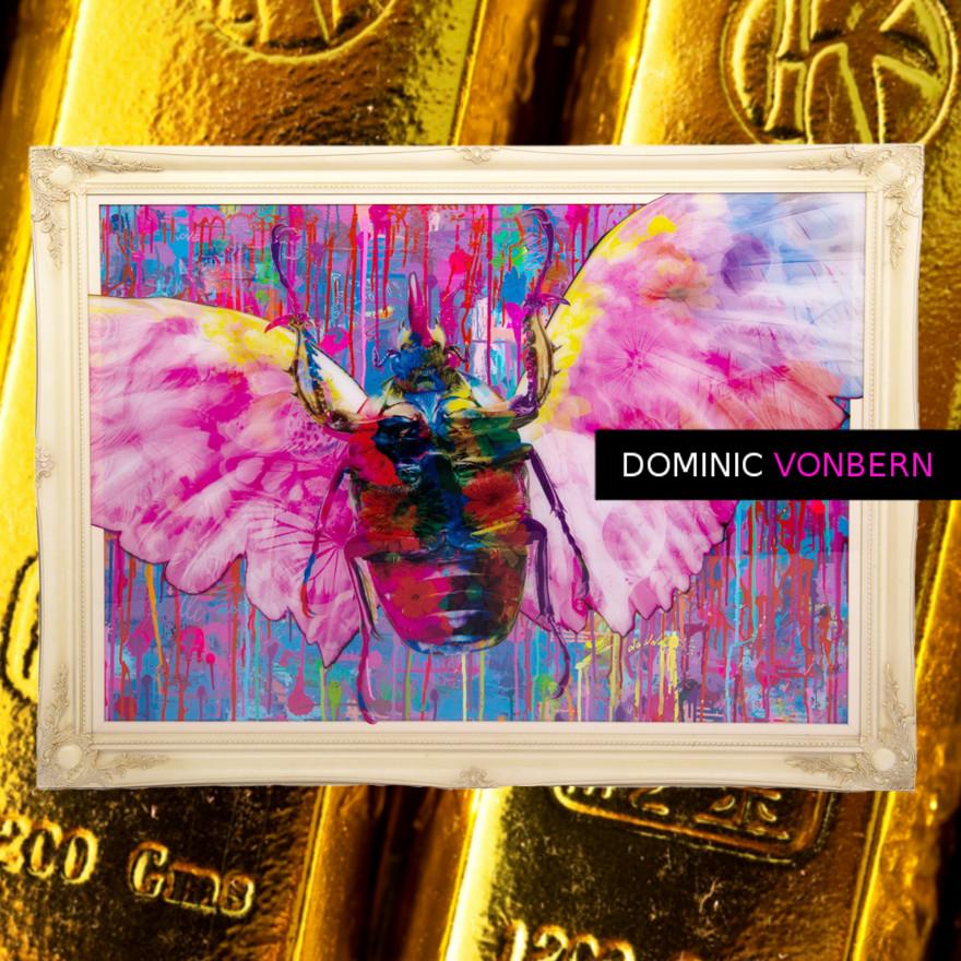 Dominic Vonbern-Swiss Artist-Beetle Art - Bug Art -Insect Art -Street Art-Urban Art-Rainbow sunshine
