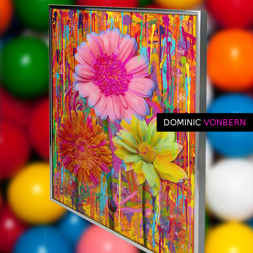 Dominic Vonbern-Swiss Artist-Flower art -Street Art-Urban Art- Flower Power 20