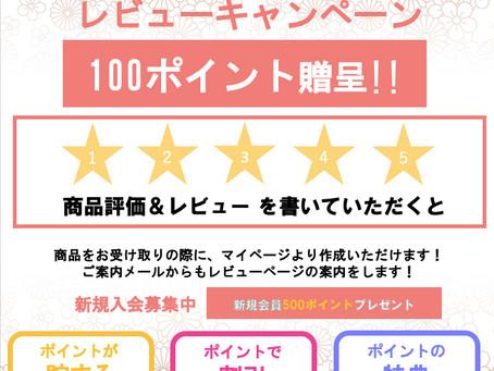 商品評価・レビューで100ポイントプレゼント!