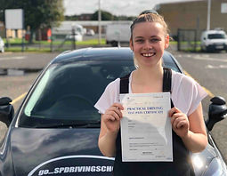 SP Driving School student passing test in Perth