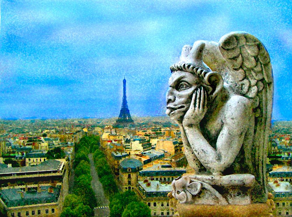 WATERCOLOR_Eiffel gargoyle.jpg