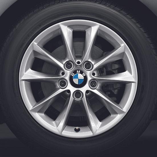 BMW Winterkompletträder V-Speiche 411 reflexsilber 16 Zoll 1er F20 F21 2er F22/3