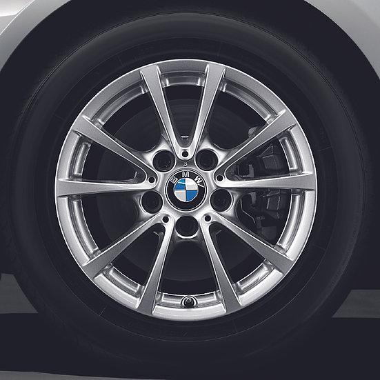 BMW Winterkompletträder V-Speiche 390 reflexsilber 16 Zoll 3er & 4er