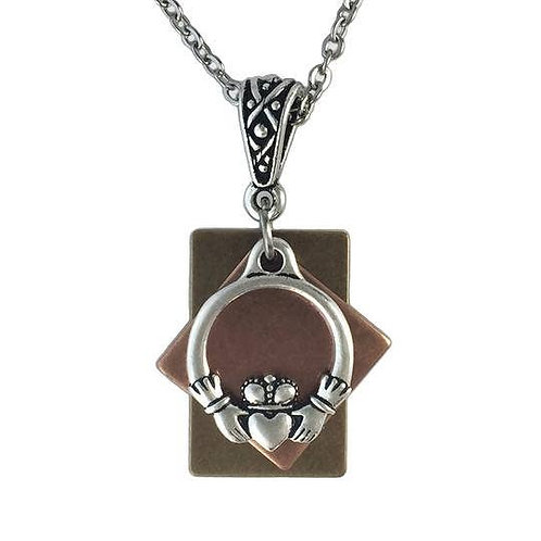 Claddagh Doorway Celtic Spiritual Friendship Necklace
