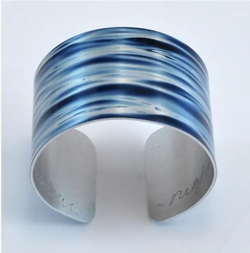 Water Bracelet Cuff Wide - Tranquility