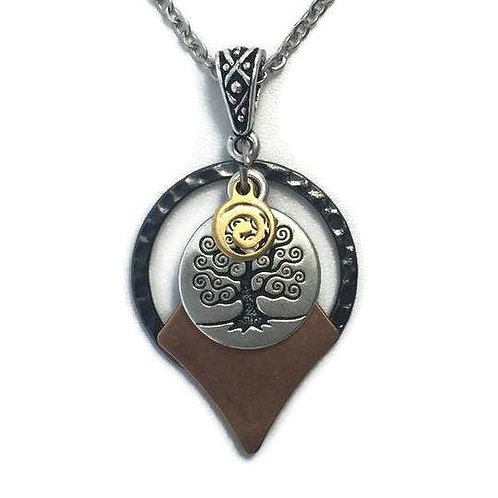 Tree Of Life Celtic Necklace New Age Spiritual Circle Charm