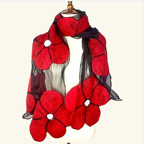 Winter Flower Scarf