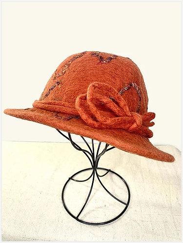 Fall/Winter Orange DropYarn Hat