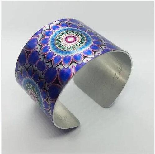 Mandala Succulent  Cuff Bracelet