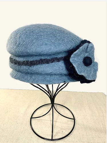 Felted Blue/Gray Cloche