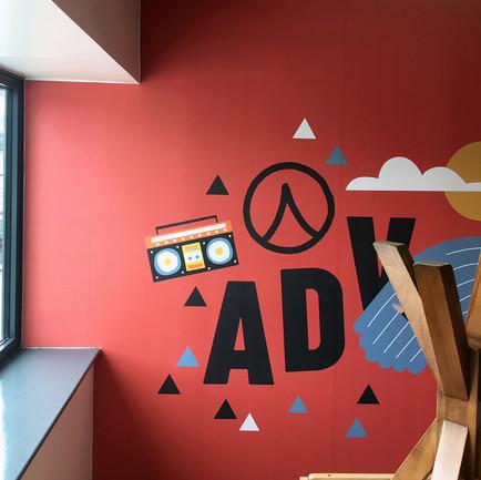 Adventure wall vinyl