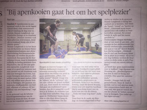 PlayActive in het Haarlems Dagblad