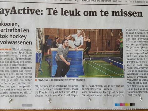 PlayActive nu ook in Hoofddorp i.s.m SportPlaza!