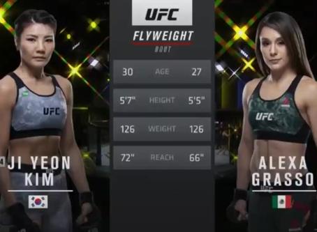 Watch the Full Free Fight between Alexa Grasso and Ji Yeon Kim at UFC Fight Night 178