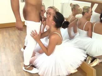 La pornostar italiana Eveline Dellai seduce il maestro di ballo