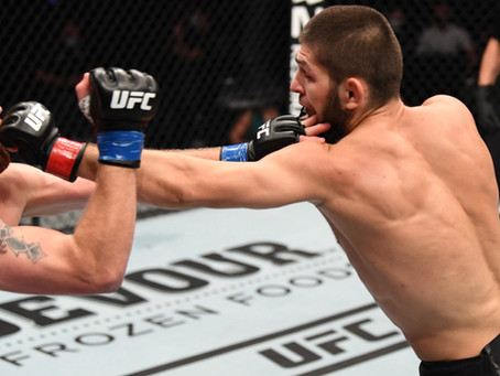 UFC 254 MMA Fight - An Astonishing Khabib Nurmagomedov Defeats Justin Gaethje