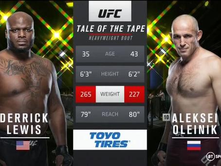 UFC Fight Night 8 Aug. 2020 - Watch Full Fight Derrick Lewis vs. Alexey Oleinik