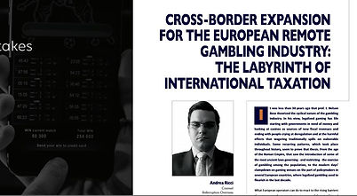 Editorial Andrea Ricci Cross Border Expansion European Gambling Industry Casino & Gaming International Bellerophon Overseas