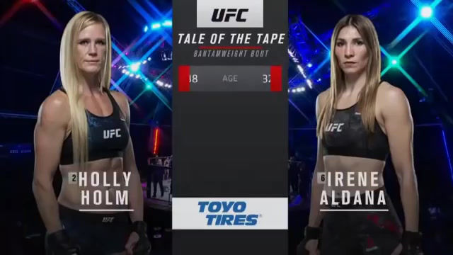 Watch Free UFC Fight Irene Aldana vs. Holly Holm - UFC Fight Island 4