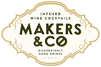 makers and co wine, makers and co, themakersandco alcoholic wine cocktails logo