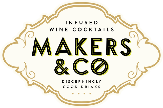 makers and co wine, makers and co, themakersandco, alcoholic wine cocktail lime, mint and hibiscus, cranberry, rose petal and hibiscus logo
