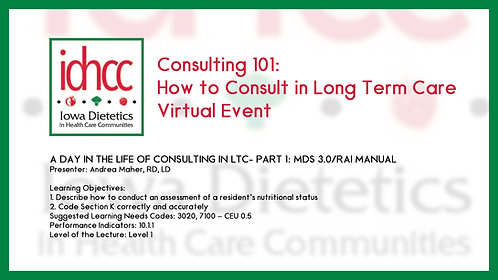 A Day in the Life of Consulting in LTC Part 1 & 2