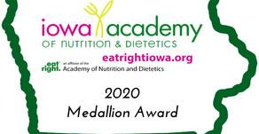 2020 Medallion Award