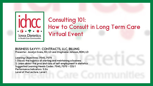 Business Savvy: Contracts, LLC, Billing