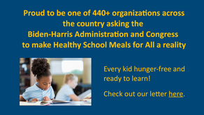 Every kid hunger-free and ready to learn!