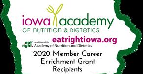2020 Member Career Enrichment Grant (MCEG) winners