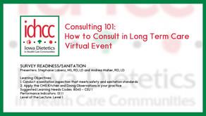 Consulting 101: Survey Readiness/Sanitation