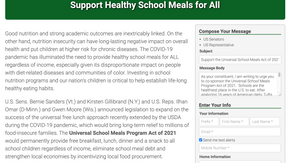 Support Healthy School Meals for All