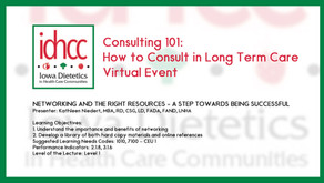 Consulting 101: Networking and the Right Resources