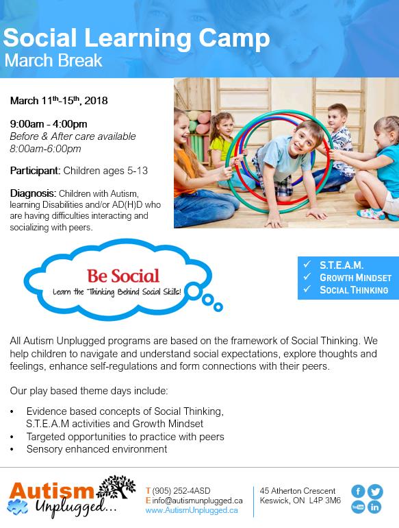 March Break Social Skills Camp 2019 FORM