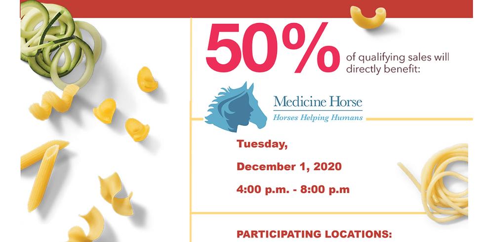 Pasta at Noodles & Co. fundraiser for Medicine Horse