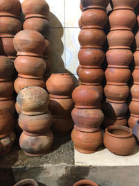 Clay pots used for Gulab Jaman
