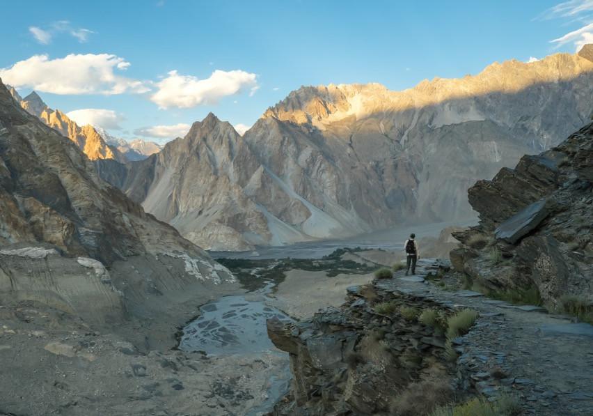 Hiking around Passu Glacier