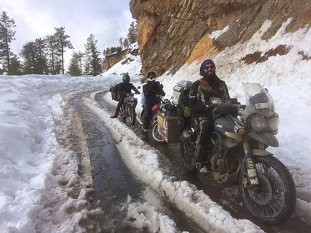 Slip slinding along the Nathia Gali road