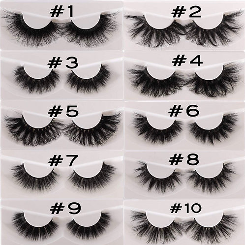 25 mm lashes 1-10