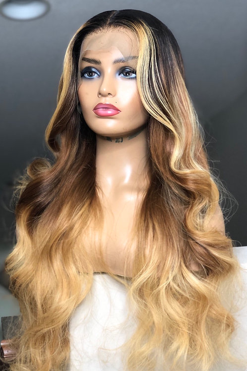 """28"""" RAW indian Full Lace Unit w/ Custom color"""
