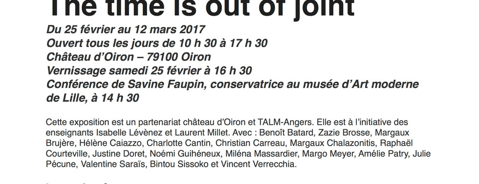 Page - ESBA Angers - Expositions - The time is out of joint